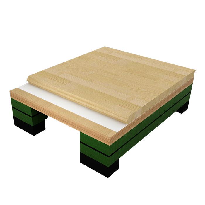 龙骨结构运动木地板