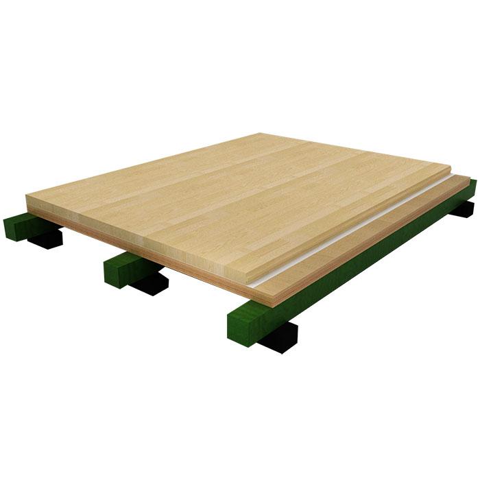 单龙骨结构体育地板