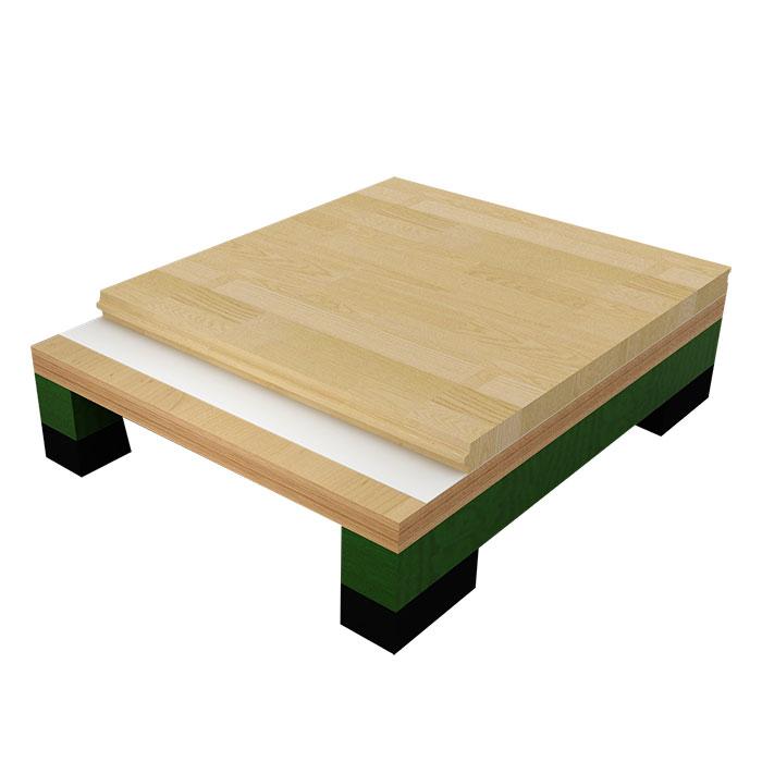 单龙骨结构木地板