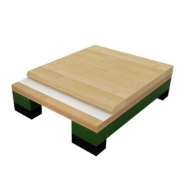 板式龙骨专业型木地板