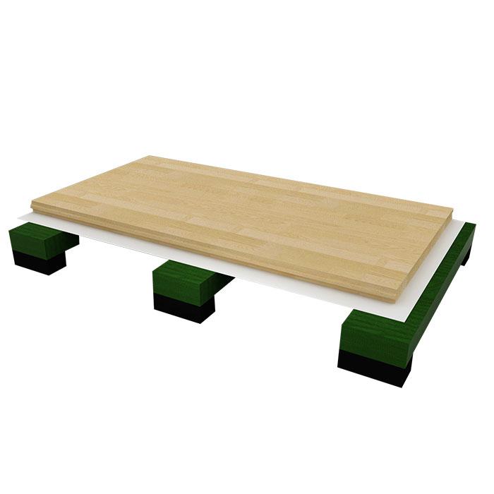龙骨结构体育地板