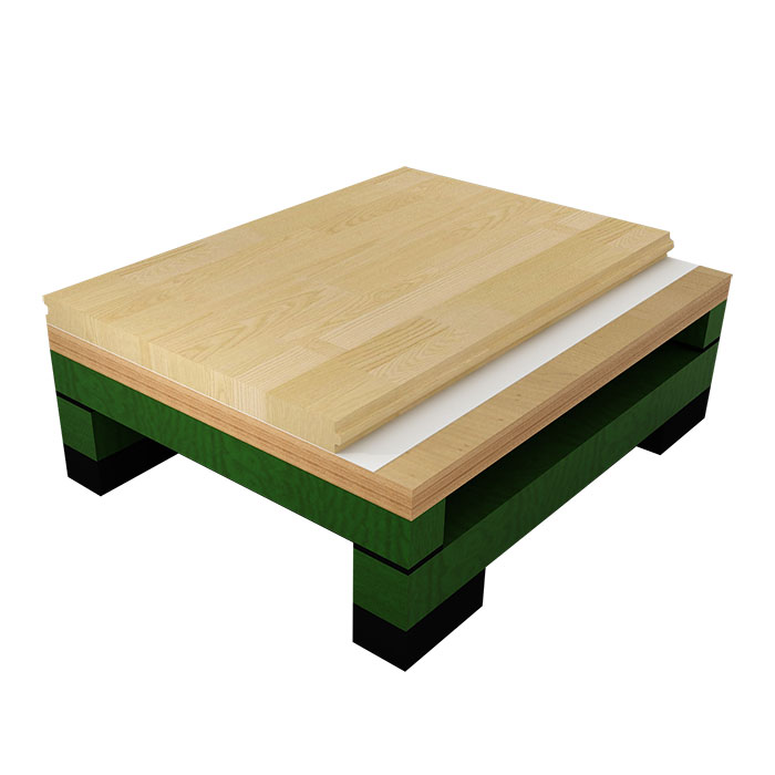 双龙骨比赛型木地板