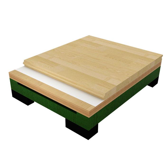 主辅龙骨结构木地板